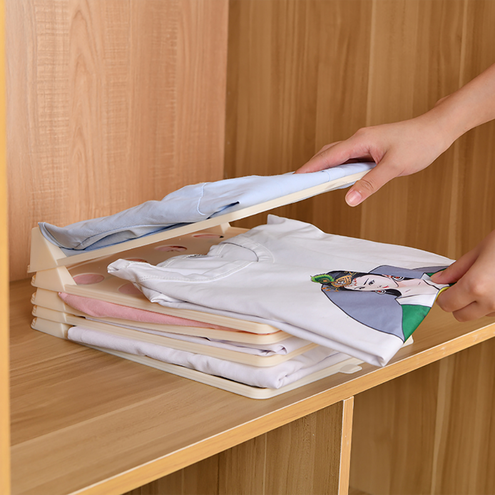 Organizer Board File-Cabinet Drawer Closet for Stackable Clothing Folder 1-Pack title=