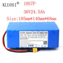 KLUOSI 36V Battery 10S7P 24.5Ah for NCR18650GA with 35A Balance BMS 42V Li-Ion Battery Pack Ebike Electric Bicycle Motor Scooter kluosi 36v 10s7p 22 4ah 1200w high power capacity li ion battery pack for electric car bicycle motor scooter 35a balanced bms