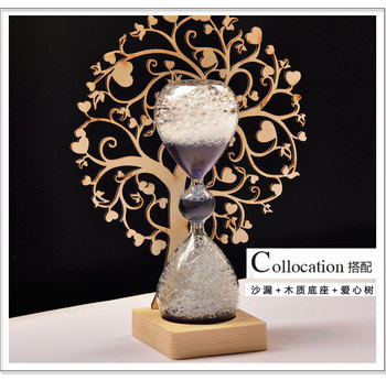 Magiczne szkło bańka klepsydra czas akcesoria klepsydra drewno kwiat Hoom akcesoria dekoracyjne prezenty akcesoria prezenty ślubne tanie i dobre opinie CAPRICE