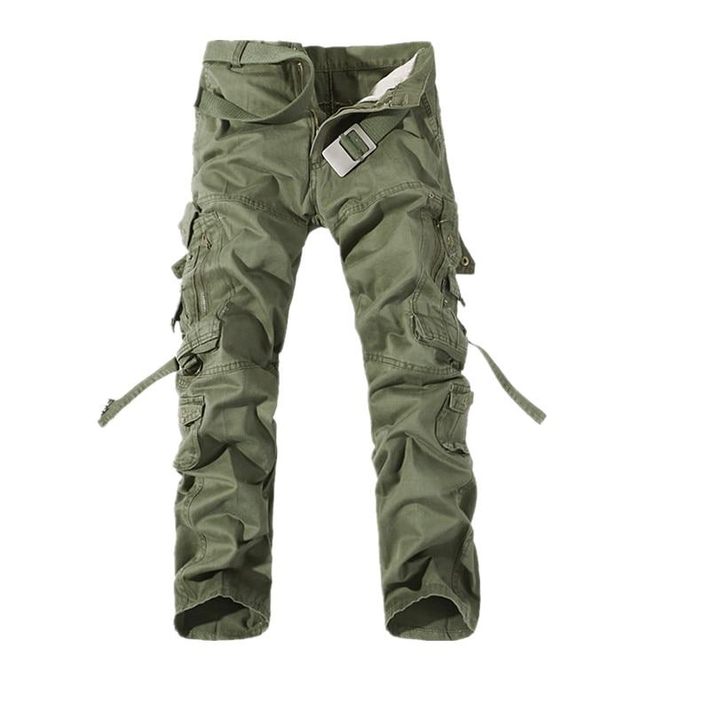 Men Cargo Pants 2019 Mens Cotton ArmyGreen Khaki Pants Male Military Overall Outdoors Tactical Pants Trousers Pantalon Hombre