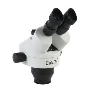 Image 4 - 3.5x 7x 45x 90x zoom contínuo simul focal trinocular microscópio estéreo led luz para o reparo de solda cpu do telefone cpb