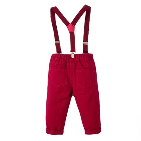 meninos roupas denim camisa calcas vermelhas
