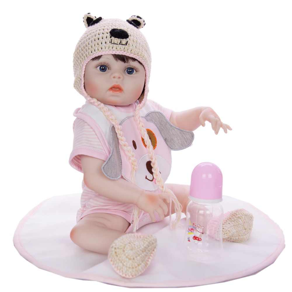 Bebes reborn doll 48cm Baby girl boy Dolls full Silicone Boneca Reborn Brinquedos  children's day gifts toys bed time plamate