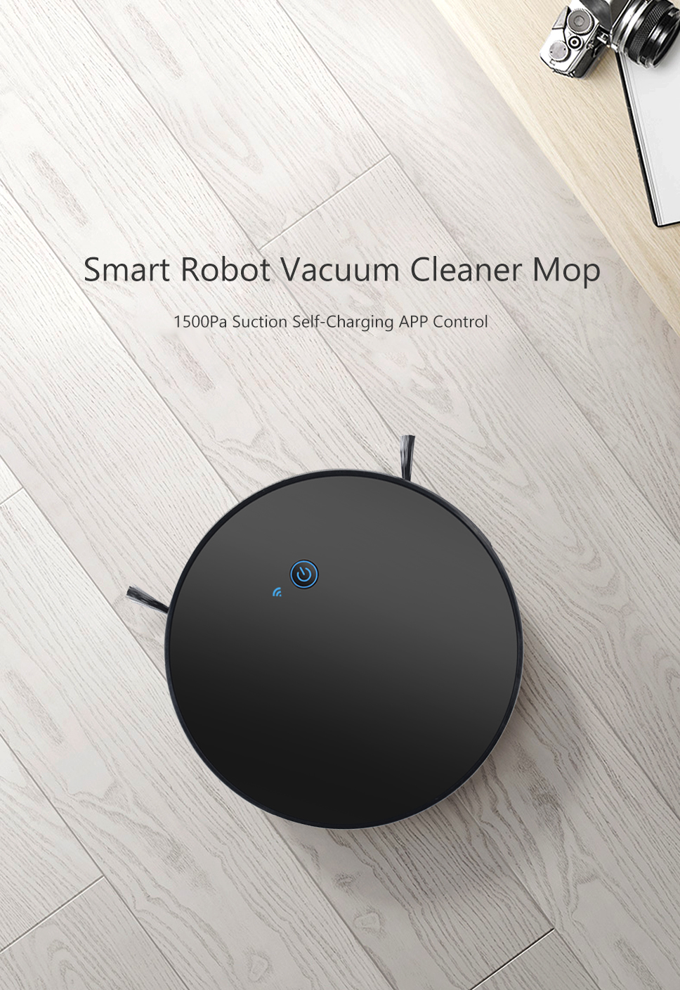 H716465e3ba9c4d35b6c2a31eb85491baD Home Intelligent Sweeping Robot App Remote Control Wireless Vacuum Cleaner Smart Wiping Machine Automatic Refill Floor Cleaner