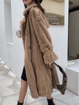 2020 Natural Mink Fur Coat Women Long Winter Jacket Real Fur Coat Luxury Mink Jacket Overcoat Manteau Femme Hiver 199005 KJ3658