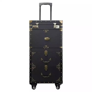 Image 3 - New large capacity Trolley Cosmetic case Rolling Luggage,Multi layer Beauty Tattoo Salons Trolley Suitcase Travel makeup toolbox