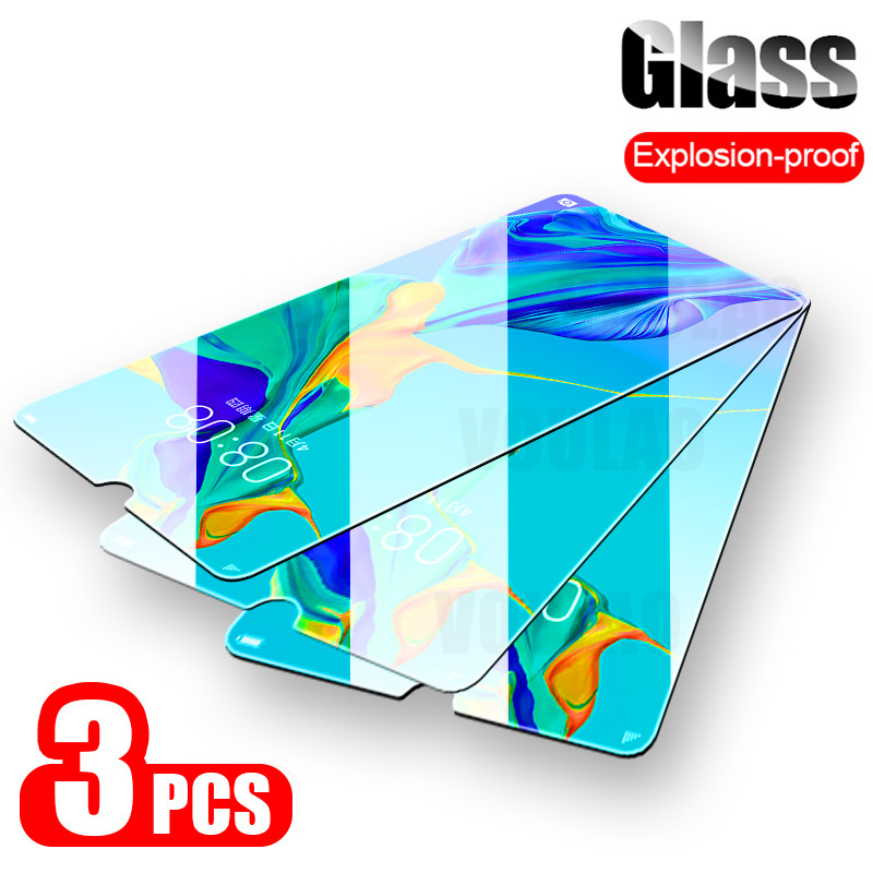 3Pcs Tempered Glass for Huawei P40 P30 P10 P20 Lite Pro P Smart 2019 Screen Protector for Honor 10i 10 lite 8X Protective Glass(China)
