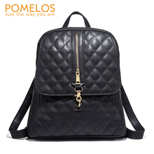 POMELOS Women Backpack 2019 New School Bags For Teenage Girls Luxury PU Leather Material Ladies Backpack Travel Functional Bag 2017 embroidered backpack women pu leather shoulder bag fashion ladies backpack travel bag school bags for teenage girls gift