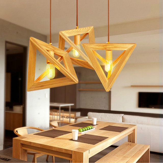 Geometric Solid Wood Lamp