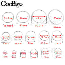 10pcs Pick 15 Sizes 10mm~57mm Silver Plated Hole Key Rings Key Chain Split O-Rings Rhodium Round Split Keychain Accessories(China)