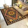Ретро Национальный Стиль 3D печатные ковры для гостиной спальни коврики солнце/звезда/луна узор ковер современный домашний коврик/ковер