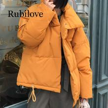 Rubilove Autumn Winter Jacket Women Coat Fashion Female Stand Parka Warm Casual Plus Size Overcoat Pa