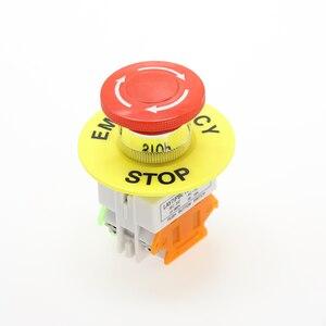Image 5 - 1PCS พลาสติกสีแดงป้ายสวิทช์ปุ่มกด DPST เห็ดปุ่มหยุดฉุกเฉิน AC 660V 10A ไม่มี + NC LAY37 11ZS