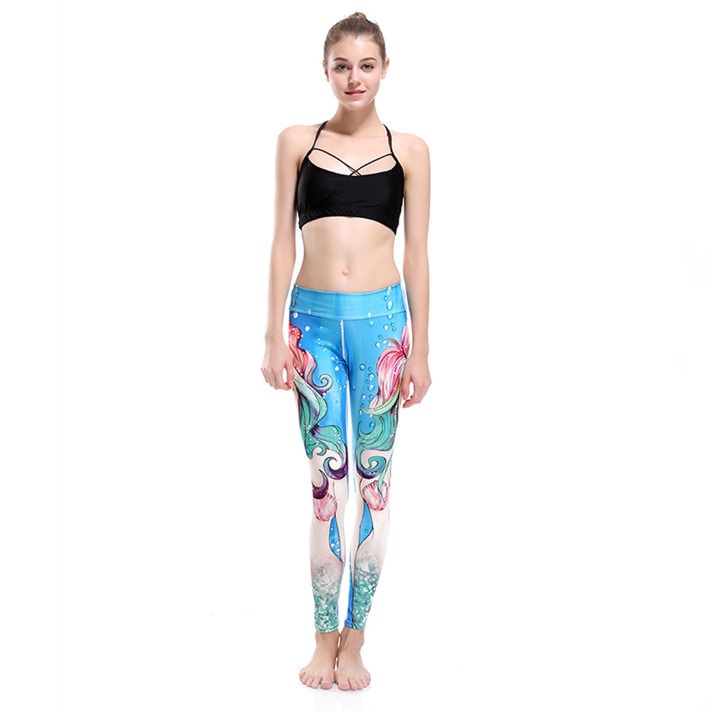 Ladies Slimming Hip Movement Breathable Quick-drying Submarine Beauty Nine Lady Pants Leggings