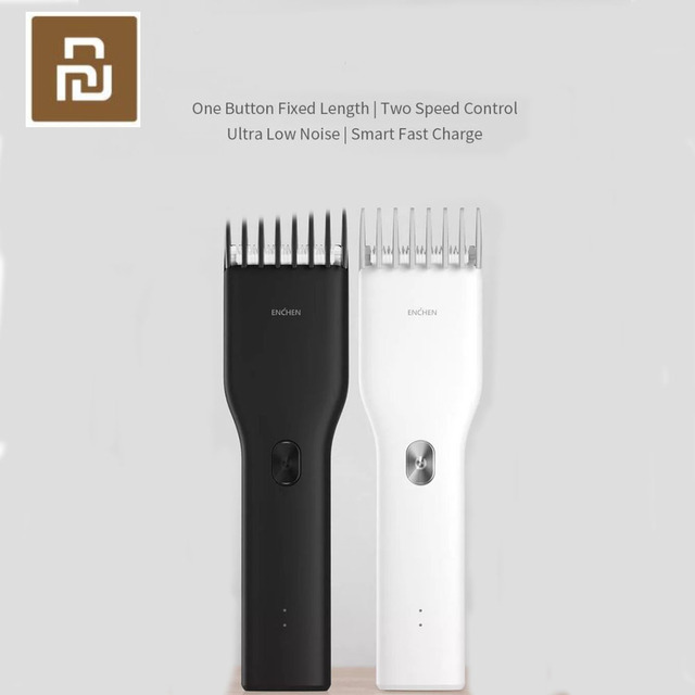 Youpin Enchen Boost USB électrique tondeuse à cheveux deux vitesses en céramique coupe cheveux rapide charge tondeuse à cheveux enfants adultes