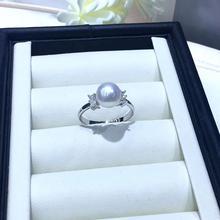 925 Серебряное классическое регулируемое кольцо с жемчугом, детали для крепления жемчуга Oyster Edison кораллы нефритовый бисер камни