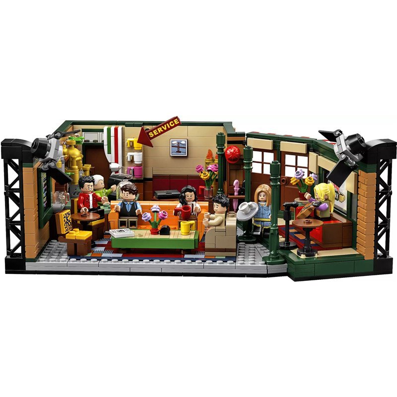 NEW Classic TV Series American Drama Friends Central Perk Cafe Fit Model Building Block Bricks LogoingLYes 21319 Toy Gift Kid