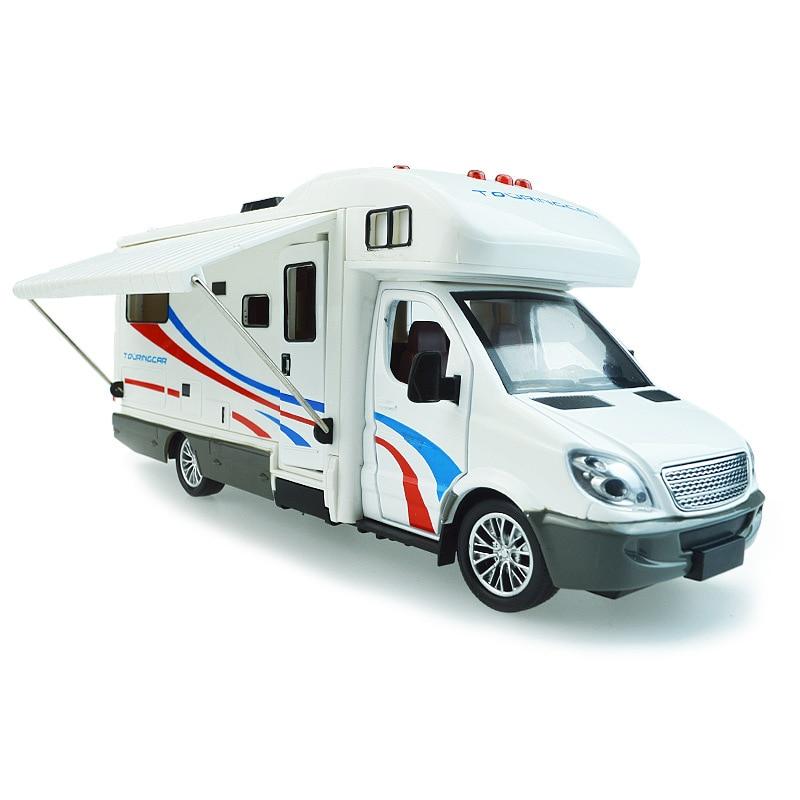 Jouets Collection132 échelle Sprinter luxe camping-car véhicule récréatif RV remorque caravane alliage métal moulé sous pression voitures jouets