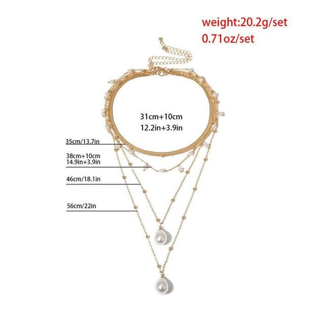 multi chain pearl  choker-necklace 6