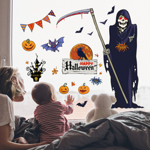 Halloween Wall Sticker Double-Sided Bedroom Living Room Window Funny Decoration Removable