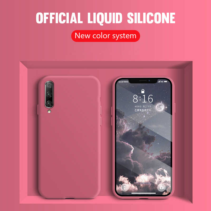 Liquid Silicone Ốp Lưng Điện Thoại Tiểu Mi Mi A3 A2 CC9 9 SE 9T Mi 9T 8 Lite 6X Trên Red Mi Note 7 5 6 8 8T K20 Pro Đỏ Mi 8 8A 7A Bao