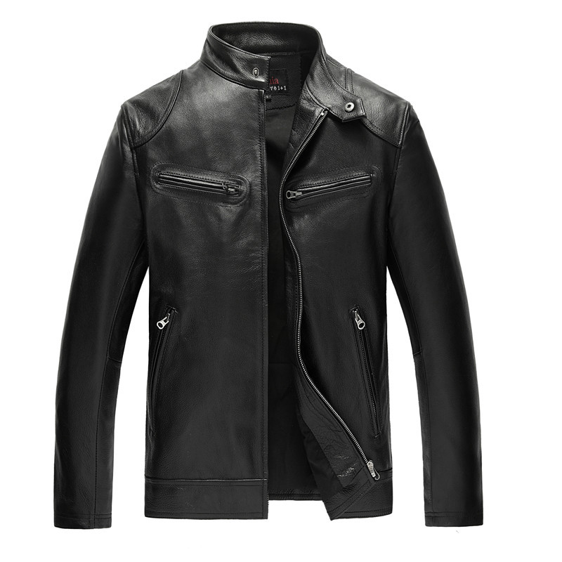 Genuine Leather Jacket Man 2020 Real Cow Leather Coat Men's Fashion Motorcycle Jackets 006 MF062