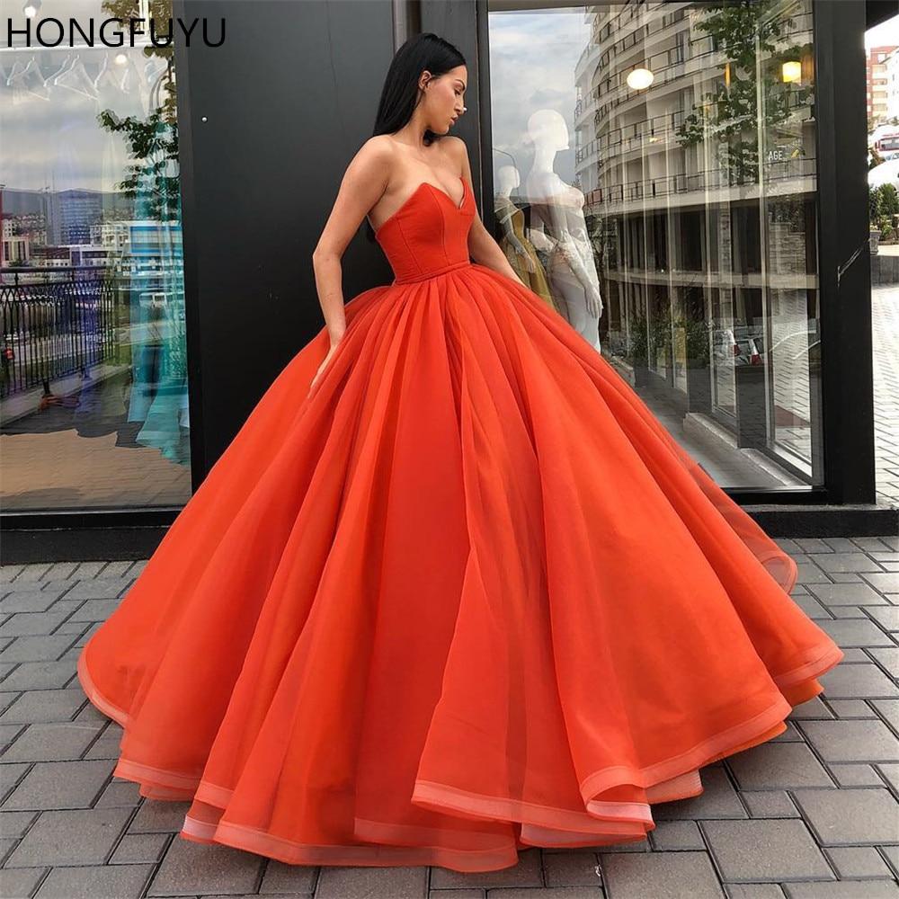 HONGFUYU élégant corail robes de soirée chérie Satin Organza longueur de plancher grande taille robes de bal femmes Maxi robes robe de bal