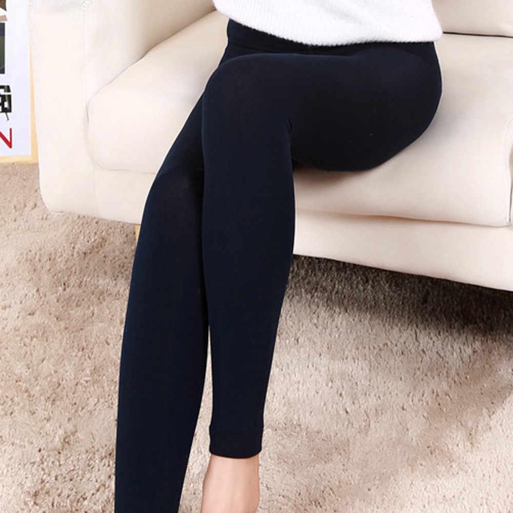 Wanita Mewah Kasmir Legging Tebal Kasual Legging Elastis Slim Celana Kasual Celana Mujer Celana Olahraga Kebugaran Legging