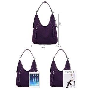 Image 4 - ใหม่สุภาพสตรีสุภาพสตรีหนังคุณภาพสูงกระเป๋าถือหรูผู้หญิงกระเป๋าออกแบบเรียบง่ายพู่กระเป๋าผู้หญิง 2019