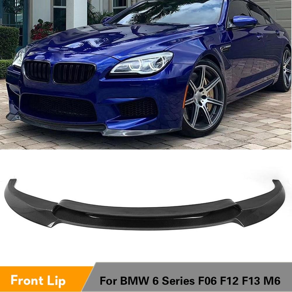 Углеродное волокно/FRP неокрашенные передний бампер спойлер для BMW F06 F12 F13 M6 база Кабриолет купе 2013 - 2016