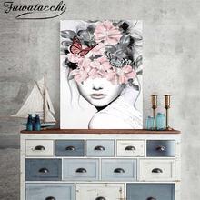 Цветок fuwatacchi Женская Настенная картина маслом абстрактная