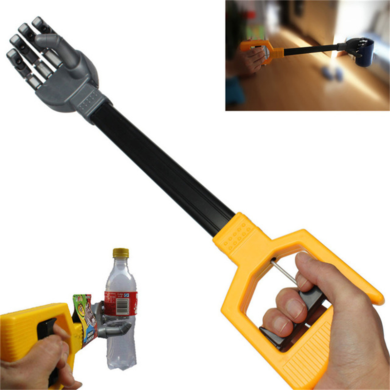 55CM Robot Telescopic Claw Hand Grabber Stick Kid Boy Toys Hand Wrist Strengthen DIY Robot Grab Plastic Baby Action Toy Parts