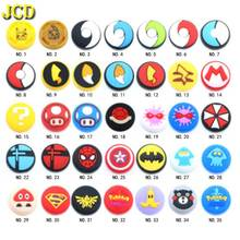 JCD 35model 100PCS For Joy Con Silicone Joystick Thumb Stick Grip Cover Case Analog Caps For Nintend Switch NS JoyCon Controller