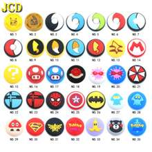 JCD 35model 100PCS For Joy Con Silicone Joystick Thumb Stick Grip Cover Case Analog Caps For Nintend Switch NS JoyCon Controller(China)