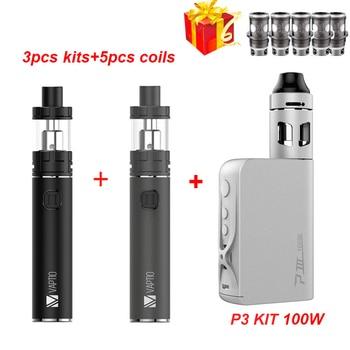 gift Vape pen 3000mAh electronic cigarette 100W Vaporizer Vaptio C2 Built in Battery 3000mah vape MOD 2.0ml/4.0ML atomizer kit new eleaf ijust s vaping kit 3000mah built in battery w 4ml ijusts atomizer ec