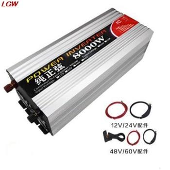 Pure sine wave inverter DC12V 24V 48V 60V to AC220V 8000W solar converter for automotive voltage converter inverter sunyima inverter dc12v 24v 36v 48v 60v to ac1000 2000 2800 3600 4000w pure sine wave high power frequency inverters transformer