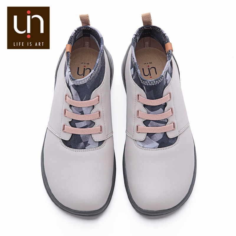 UIN Autumn/Spring Elastic Ankle Fashion Boots Women/Men Microfiber Suede Comfort Flat Shoes Outdoor Boot Large Sizes Lightweight
