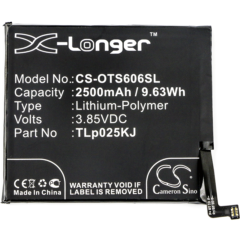 Cameron Sino 2500 мАч аккумулятор для Alcatel One Touch Idol 5S One Touch Idol 5S LTE OT-6060S, TLp025K1 TLp025KJ