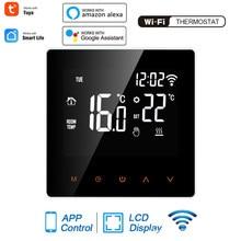 Tuya WiFi Smart Thermostat LCD Display Touch Screen Für Elektrische Boden Heizung Wasser/Gas Kessel Temperatur Fernbedienung