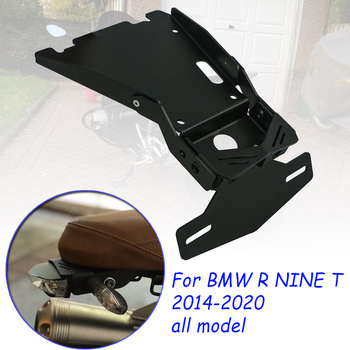 for bmw r ninet nine t 9t racer scramble urban r9t 2014 2019 motorcycle tail mount license plate bracket rear holder accessories Motorcycle Tail Mount License Plate Bracket Support Holder For BMW R NINET NINE T 9T Racer Scramble urban R9T Rear License Plate