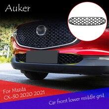 Parte inferior dianteira do carro líquido médio decoração exterior acessórios especiais proteção areia capa para mazda cx30 CX 30 2020 2021