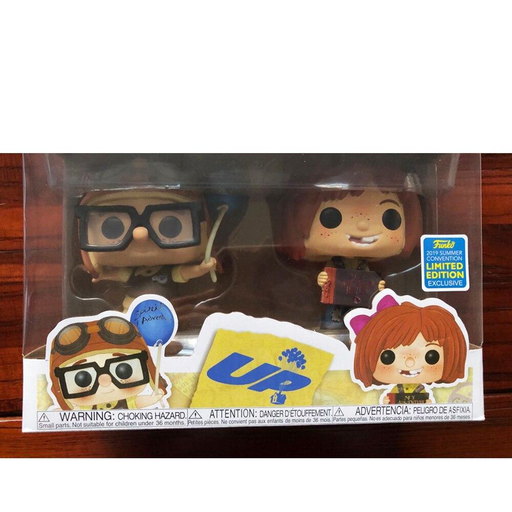 Pop up carl & ellie up com caixa figura de ação modelo brinquedos para chlidren