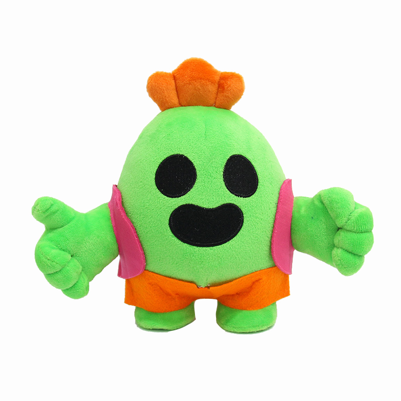 cute kawaii 20cm anime Game Brawl Spike model Doll Plush stuffed Toy Cactus Soft Stuffed Toys for Children kids christmas Gift