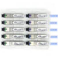 SC SFP Fiber optic module 1.25G SC 20/40/60/80/100KM 1310/1490/1550nm Single Fiber SFP Optical Module Compatible code  ONU OLT