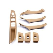 7Pcs Interni Interno Porta Maniglia di Tiro Trim Grip Copertura per BMW F10 F11 F18 F30 520i 525i 5 serie Mano Sinistra di Guida Car Styling