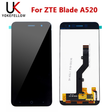 LCD Display For ZTE Blade A520 LCD Display Digitizer Screen With Touch Complete Assembly for zte grand x max z987 lcd replacement lcd display touch screen digitizer frame complete assembly parts 987 plus tools