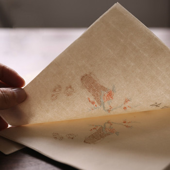 50 Sheets Chinese Half-Ripe Xuan Paper Letterhead Rijstpapier Rice Paper Painting Antiquity Calligraphy Sandalwood Papel Arroz calligraphy paper papel arroz rolling half ripe xuan paper chinese yellow ultra thin rice paper chinese painting rijstpapier