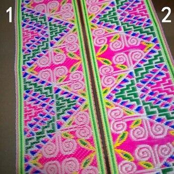 5cm, 5cm, 50mm, 2 , verde, rosa, azul, verde, cuerno de antílope en Zigzag, traje de cortina, cordón de encaje cinta de Jacquard étnica, Correa tejida