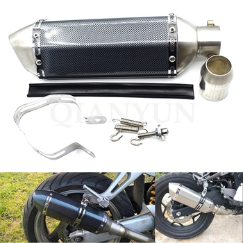 Universal 51mm Motorcycle parts Exhaust Stainless Steel Motorbike Exhaust Pipe For honda cbr250r cbr300r CB300F cbr500r cb500f