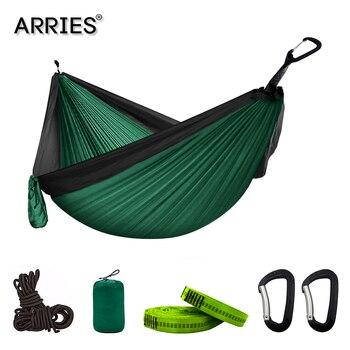 Hamaca de paracaídas portátil para acampada de 300x200cm, Hamaca de supervivencia para...